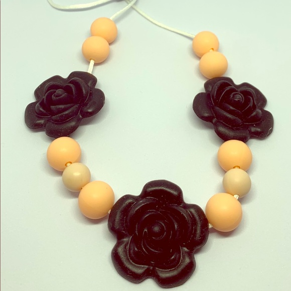 Infant teething necklace